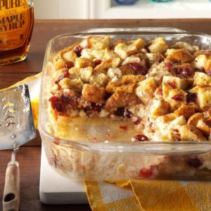 Cranberry Cream Cheese French Toast