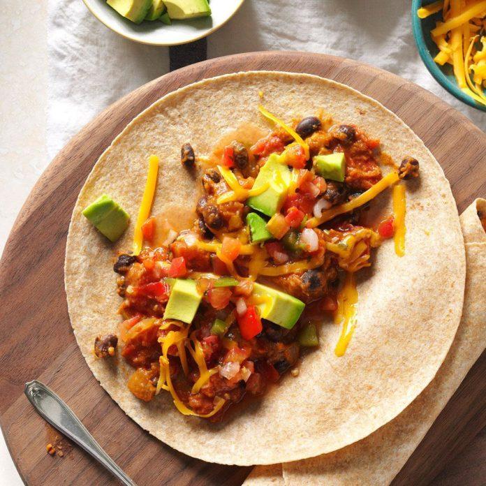 October: Vegetarian Bean Tacos