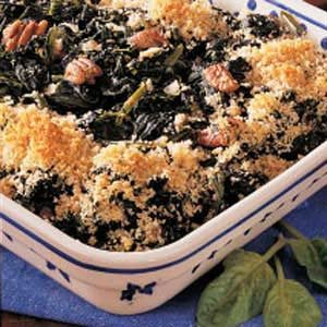Spinach Pecan Bake