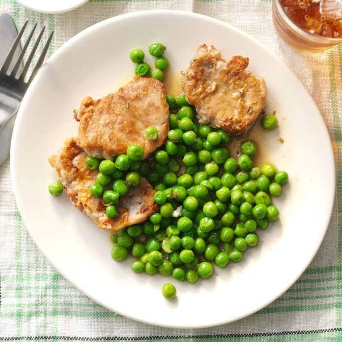 Day 16: Rosemary Pork Medallions with Peas