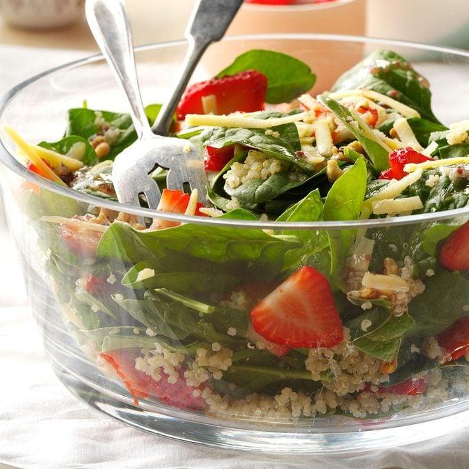 Strawberry-Quinoa Spinach Salad