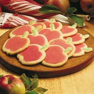 Apple Cutout Sugar Cookies