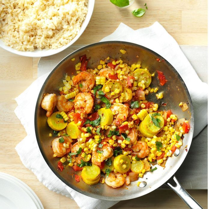 Day 18: Shrimp & Corn Stir-Fry