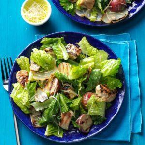 Chicken & Onion Caesar Salad