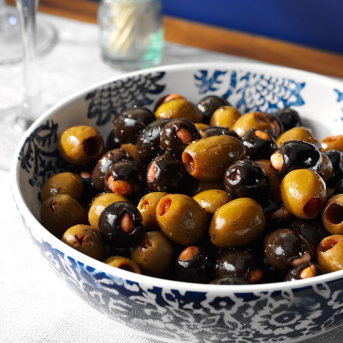 Marinated Almond-Stuffed Olives