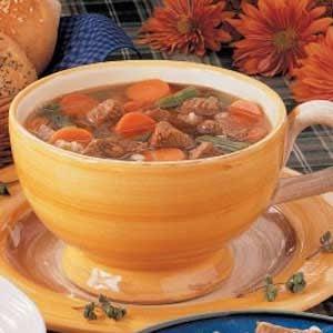Herbed Beef Barley Soup