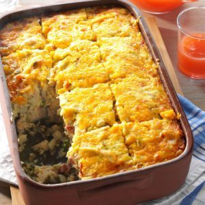 Hash Brown & Chicken Brunch Casserole
