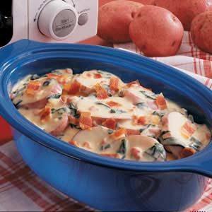 Spinach Potatoes Au Gratin