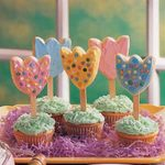 Frosted Tulip Cookies
