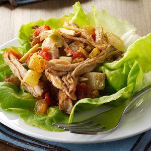 Pork Picadillo Lettuce Wraps