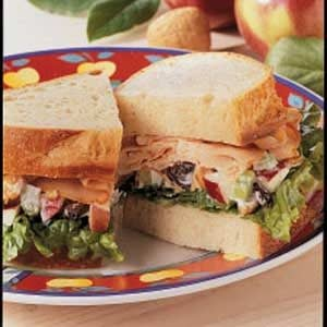 Apple-Walnut Turkey Sandwiches