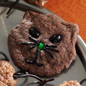 Halloween Black Cat Cookies