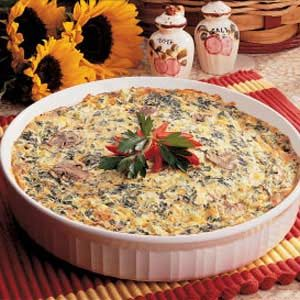 No Crust Spinach Quiche Recipe How To Make It Taste Of Home