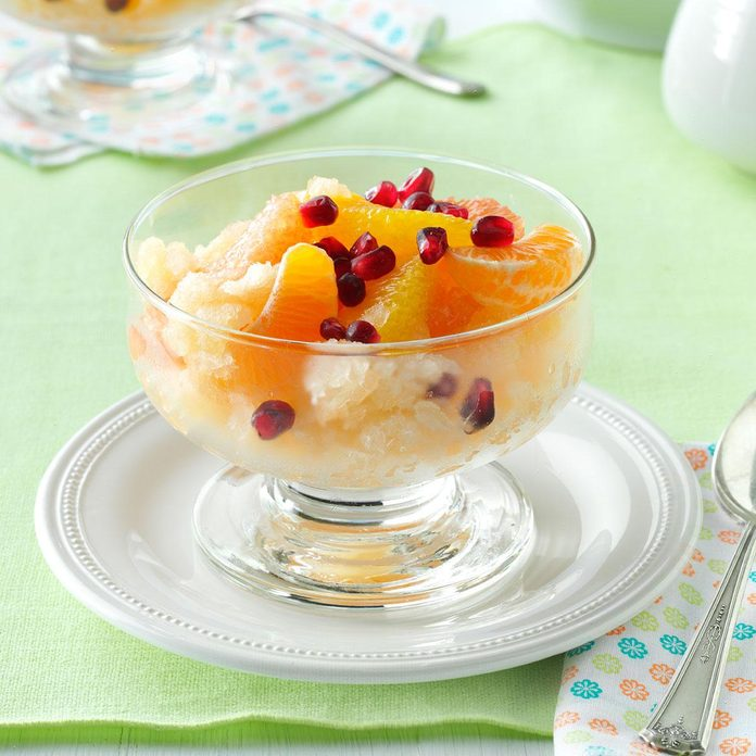 Citrus Compote with Grapefruit Granita