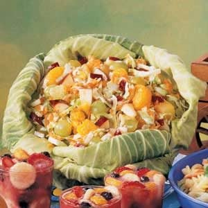 Fruit Slaw in a Cabbage Bowl
