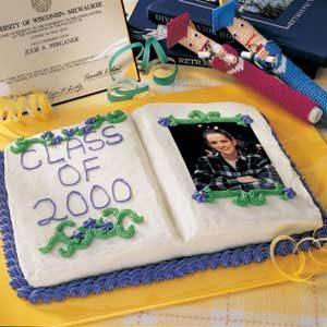 Graduation Photo  Album Cake