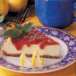 Rhubarb-Topped Cheesecake