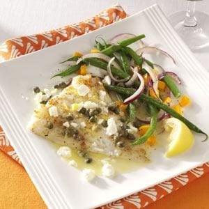 Lemon-Caper Baked Cod
