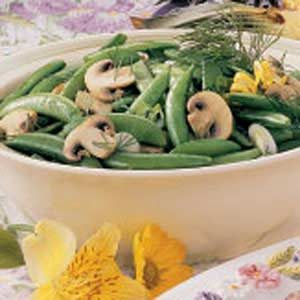Snappy Peas 'n' Mushrooms