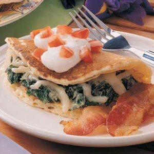 Spinach Pancake Quesadillas