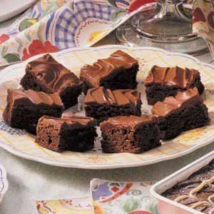 Glazed Chocolate Chip Brownies