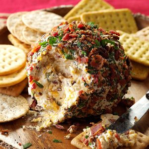 Bacon, Cheddar and Swiss Cheese Ball