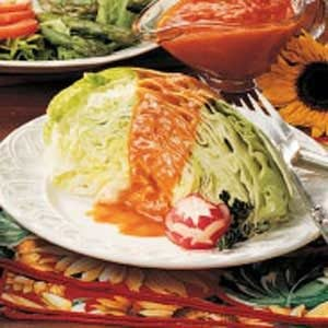 French Dressing Over Iceberg Wedges