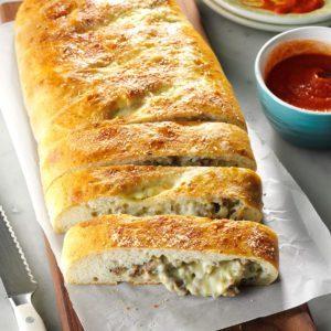Cheesy Sausage Stromboli