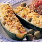 Olive-Cheese Zucchini Boats