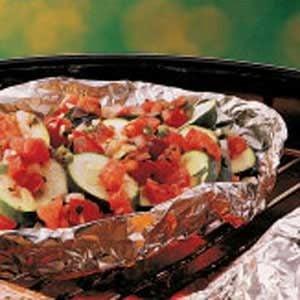 Zucchini with Salsa