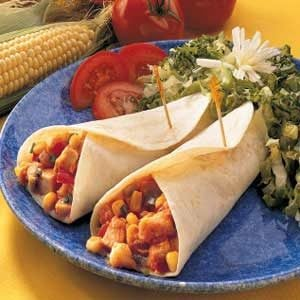 Quick Chicken and Corn Wraps