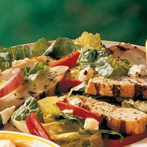 Grilled Chicken Salad with Warm Mustard Dressing