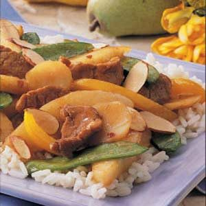 Pork and Pear Stir-fry