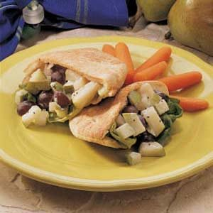 Pear Waldorf Pitas with Poppy Seed Dressing