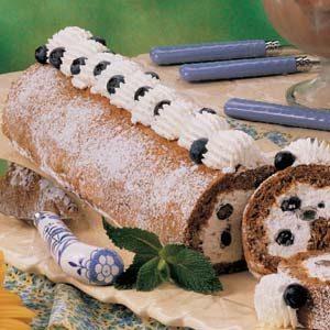 Blueberry Cream Nut Roll