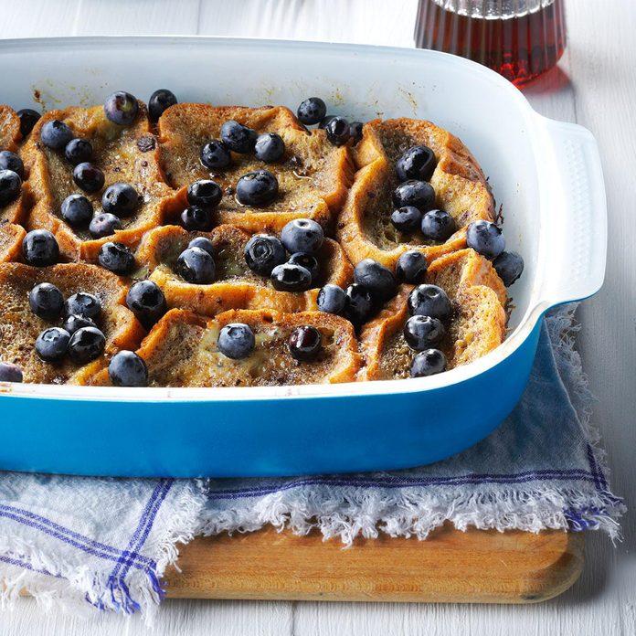 Overnight Blueberry French Toast