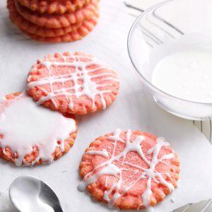 Glazed Strawberry Cookies