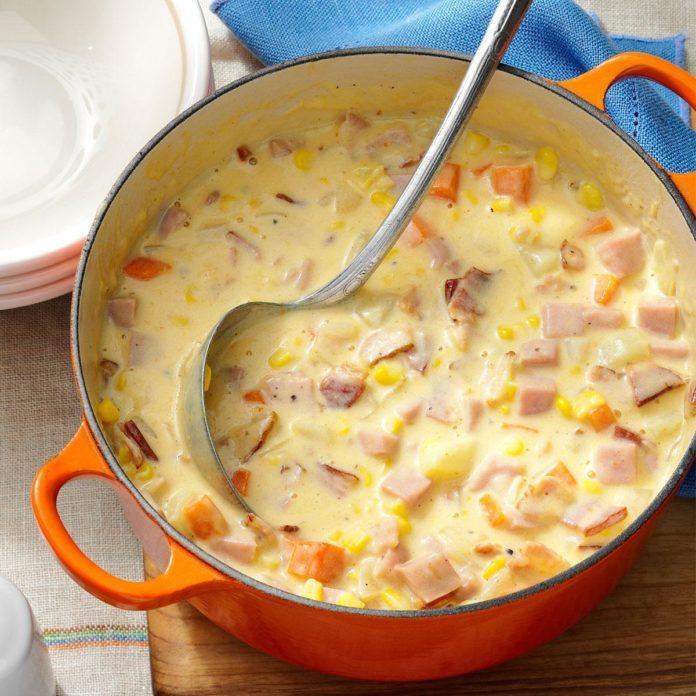 Nebraska: Cheesy Ham Chowder