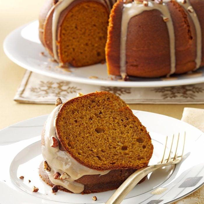 Pumpkin Spice Cake with Maple Glaze