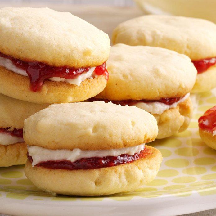 Raspberry Coconut Cookies