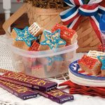Red, White and Blue Rice Krispies Treats