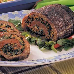 Spinach-Stuffed Steak