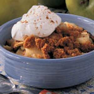 Graham Cracker Apple Crisp for Two