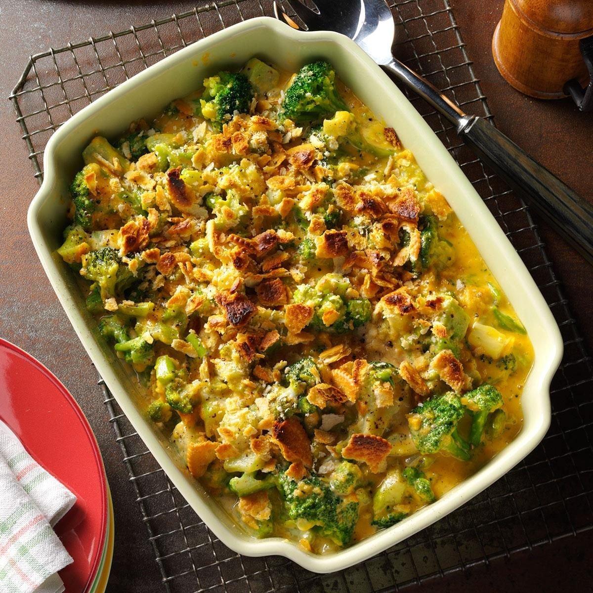 Crumb-Topped Broccoli Bake