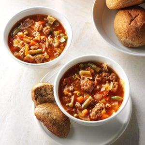 Italian Veggie Beef Soup