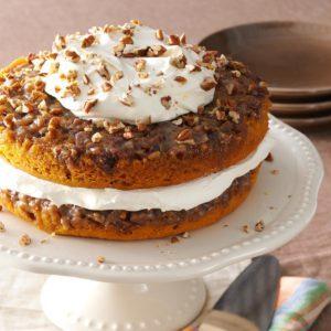 Praline Pumpkin Torte