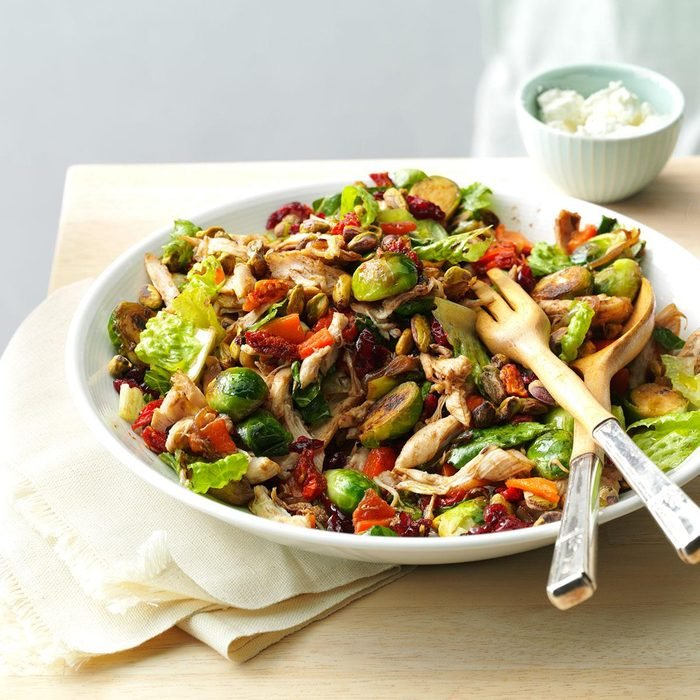Day 1: Chicken & Brussels Sprouts Salad