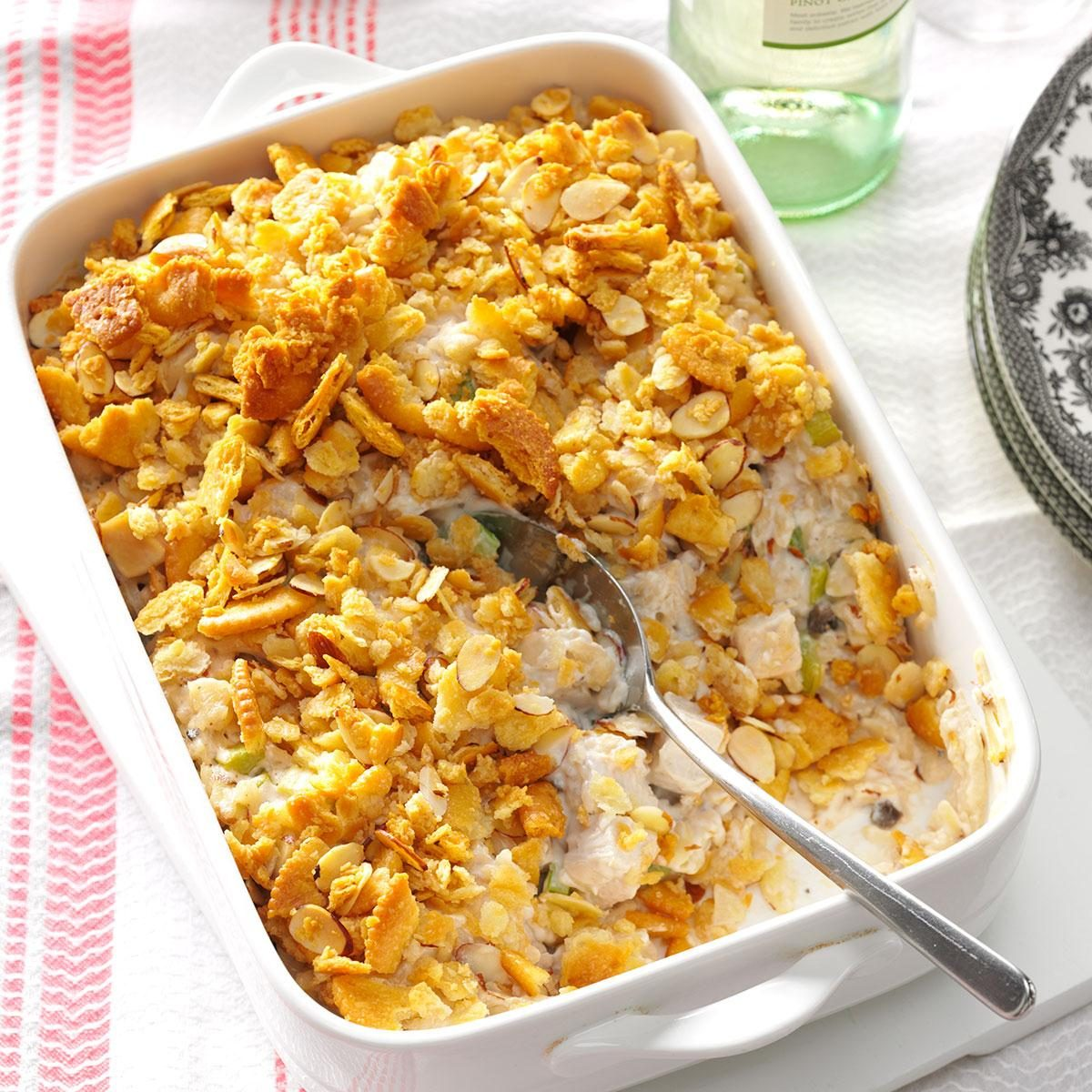 Crunchy Almond Turkey Casserole Recipe