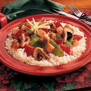 Mushroom and Turkey Stir-Fry