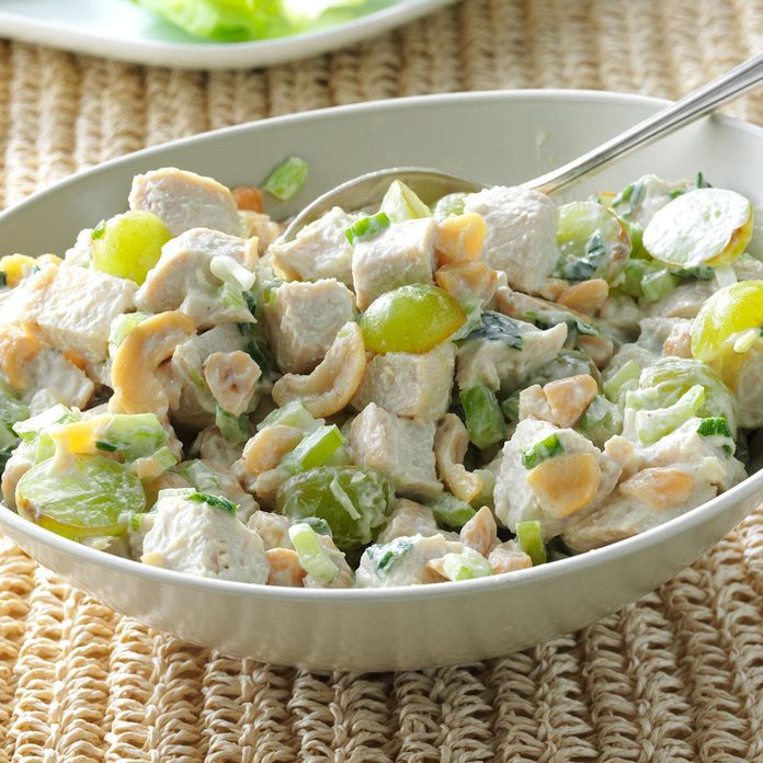 Turkey Salad with Grapes & Cashews
